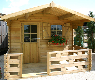 chalet en bois jardin avec les meilleures collections d 39 images. Black Bedroom Furniture Sets. Home Design Ideas