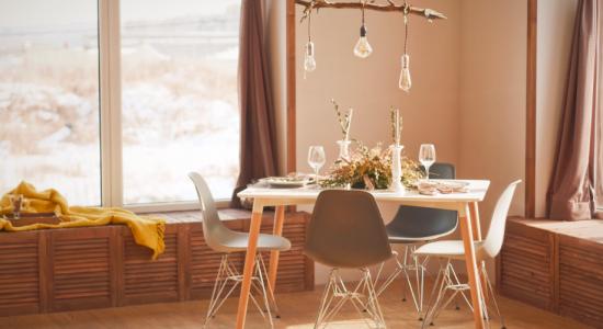 Salon décoré bois